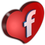 Facebook Cuore Icon