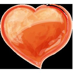 Herz orangen