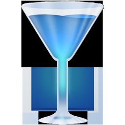 Wineglass blue