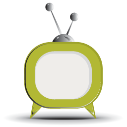 Green Rounded TV