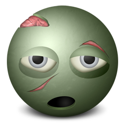 Zombie emoticon-256