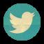 Retro Twitter Rounded icon