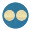 Retro Flickr Rounded Icon