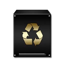 Trash Empty Gold Icon Download Black And Gold Icons Iconspedia