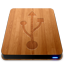 Wooden Slick Drives USB icon