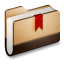 Bookmarks Brown Folder Icon