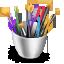 3D Art Supplies Icon