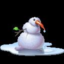 Pool snowman