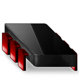 Chip black red
