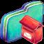 Mailbox Green Folder icon