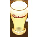 Budweiser beer glass-128