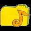 Folder y music icon