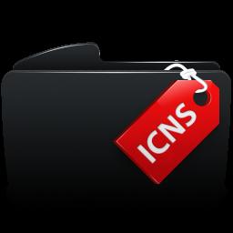 Folder black icns