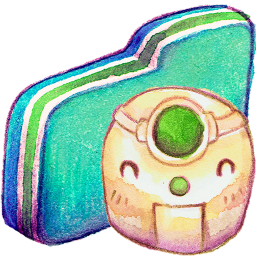 Robot Green Folder
