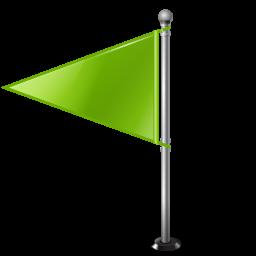 Map Marker Flag 1 Left Chartreuse