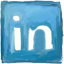 Linkedin hand drawn Icon