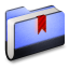Bookmarks Blue Folder icon