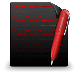 File Text black red