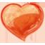Herz orangen icon