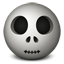 Skull emoticon icon