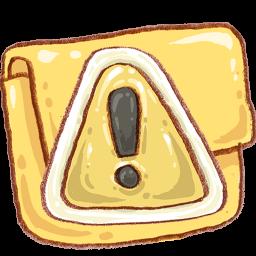 Folder Caution