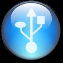Symbol USB Circle LightBlue-128