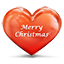 Heart Merry Christmas Icon