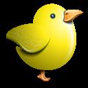 Twitter yellow bird-128