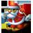 Santa skiing-48