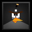Black Angry Bird Black Frame-128