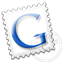 Grey Google stamp Icon