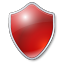 Shield red icon