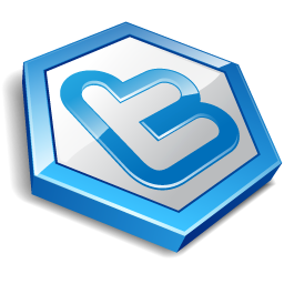 Blue shape twitter