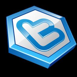 Blue shape twitter