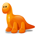 Dino orange-128