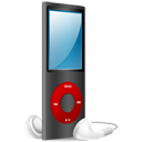iPod Nano black and red on-128