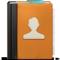 Address Book ornage