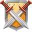 Shield and swords icon