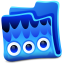 Creature Blue Folder icon