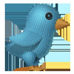 Knit Twitter Bird