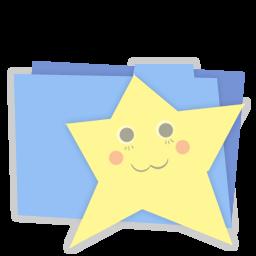 Blue folder favorites