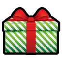 Gift green stripes-128
