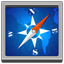 Safari square icon