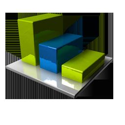 Chart Blue Green