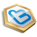 Gold shape twitter-128