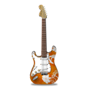 Stratocaster guitar flowers-128
