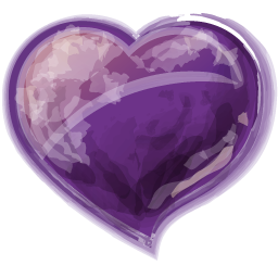 Herz violet