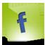 Facebook green hover Icon