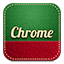 Chrome retro icon