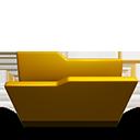 Folder opened yellow-128